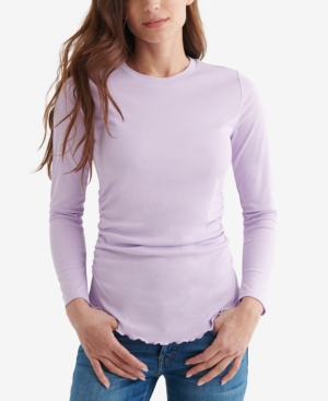 Lucky Brand Tops RIBBED LONG-SLEEVE TOP