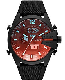 Men's Mega Chief Black Silicone Strap Watch 51mm