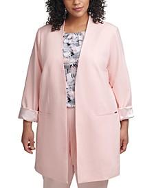 Plus Size Cuffed-Sleeve Topper Jacket