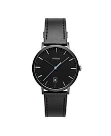Norrebro Men's Black Leather Watch 40mm