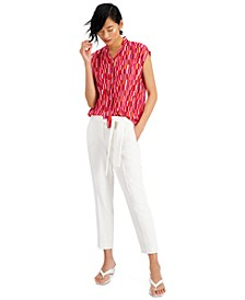 Tie-Front Blouse & Pants, Created for Macy's
