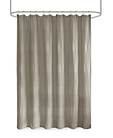 """Arlo Super Waffle Textured Solid Shower Curtain, 72"""" x 72"""""""
