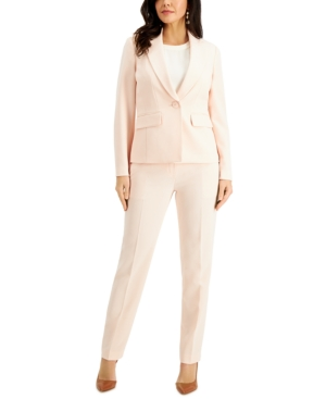 Single-Button Crepe Pantsuit