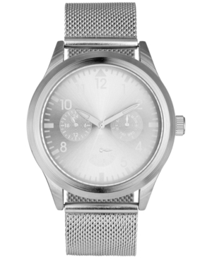 INC INTERNATIONAL CONCEPTS INC MEN'S STAINLESS STEEL MESH BRACELET WATCH 43MM, CREATED FOR MACY'S