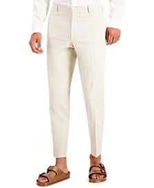 Men's Slim-Fit Linen Blend Suit Pants, Created for Macy's
