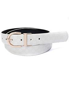 Women's Reversible Logo-to-Smooth Belt