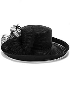Sheer-Brim Romantic-Profile Dressy Hat