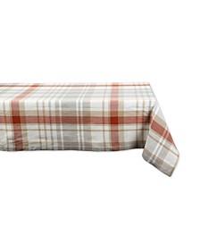 """Thanksgiving Cozy Picnic, Plaid Tablecloth, 52"""" x 52"""""""
