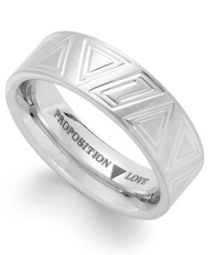 Proposition Love Cobalt Triangle Motif Wedding Band