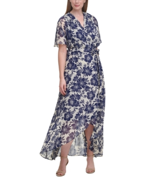 Plus Size Split-Sleeve Maxi Dress