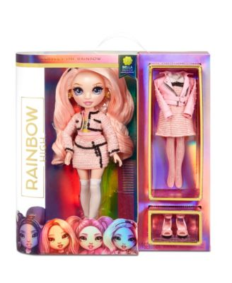 Rainbow HighBella Parker - Pink Fashion Doll with 2 Complete Mix & Match Outfits & Doll Accessories