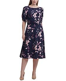 Plus Size Ruched A-Line Dress