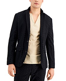 Men's Slim-Fit Eyelet Blazer, Created for Macy's