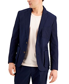 Men's Slim-Fit Safari Blazer, Created for Macy's