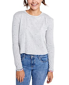 Juniors' Zoe Printed Long-Sleeve T-Shirt