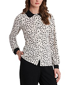 Opal Ditsy-Print Collared Blouse, Created for Macy's