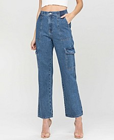 Women's Super High Rise Elastic Waistband Utility Jeans