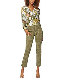 Floral-Print Sheri Slim-Fit Ankle Jeans