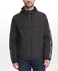 Men's Regular-Fit Logo Taped Windbreaker