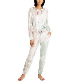 Tie-Dyed Sleep Hoodie & Jogger Pants, Created for Macy's