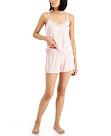 Up All Night Heavenly Soft Lace-Trim Cami & Shorts Pajama Set, Created for Macy's