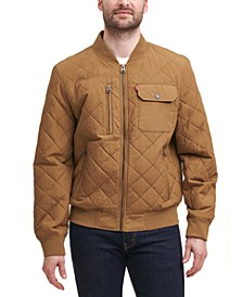 Men's Diamond Quilted Bomber Jacket