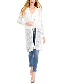 Cotton Pointelle Cardigan, Created for Macy's