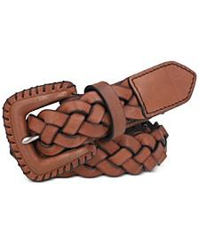 Women's Woven Braided Leather Belt