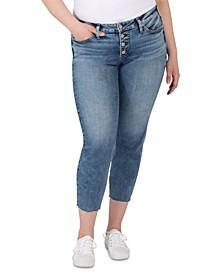 Plus Size Mid-Rise Suki Skinny Jeans