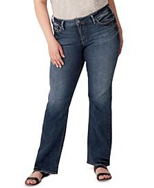 Trendy Plus Size Mid-Rise Suki Slim Bootcut Jeans