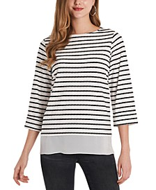 Striped Ribbed Tunic Top