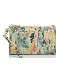 Daisy Melbourne Embossed Leather Clutch