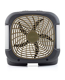 """10"""" Portable Battery Powered Fan with Lights"""