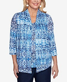 Plus Size Classics S1 Ikat Biadere Top