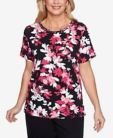 Plus Size Clean Getaway Shadow Floral Top