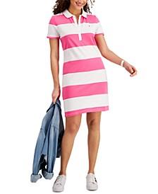 Rugby-Stripe Polo Dress