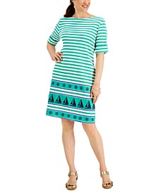 Sailor Stripe Printed Dress, Created for Macy's