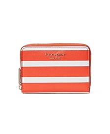 Spencer Stripe Zip Card Case