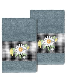 Daisy Embellished Hand Towel Set, 2 Piece