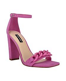 Women's Mindful Chain Detail Sky High Dress Sandals