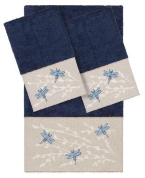 Linum Home BRAELYN EMBELLISHED TOWEL SET, 3 PIECES BEDDING