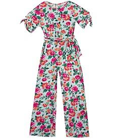 Big Girls Printed Rib Knit Jumpsuit, Set of 3