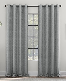 Subtle Woodgrain Recycled Fiber Semi-Sheer Grommet Curtain Panel Collection