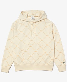 Men's L!VE Loose-Fit Logo Grid-Print Fleece Hoodie