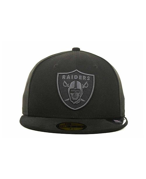 New Era Oakland Raiders Black Gray 59FIFTY Cap - Sports Fan Shop By ... 935a973d9e4