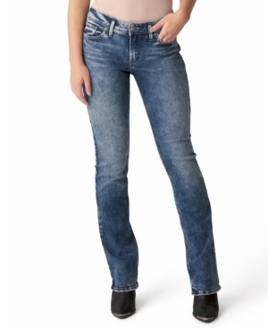 Silver Jeans Co. Elyse Mid-rise Slim Bootcut Jeans In Indigo