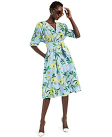 INC Petite Cotton Floral-Print Shirtdress, Created for Macy's