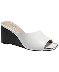 Women's Laurita Slide Dress Wedge Sandals, Created for Macy's
