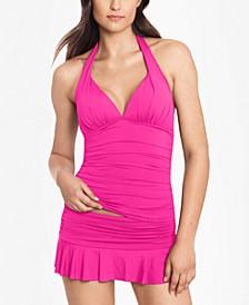Tankini Top & Ruffled Swim Skirt