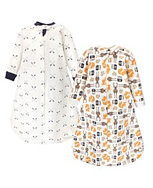 Baby Boys Premium Quilted Long Sleeve Sleeping Bag and Wearable Blanket
